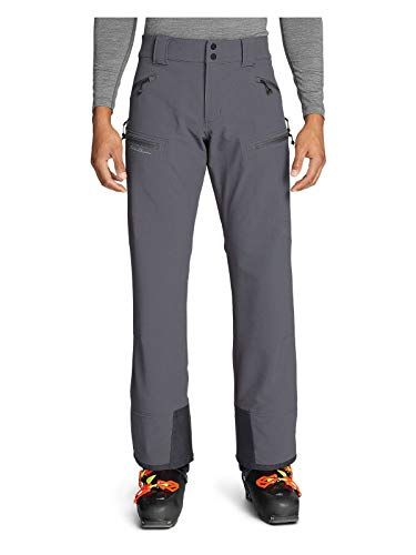 Eddie Bauer Men's Guide Pro Ski Tour Pants, Dk Smoke Regular L