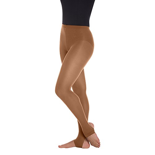 Body Wrappers A82 Womens Total Stretch Stirrup Tights (Large/X-Large, Jazzy Tan)