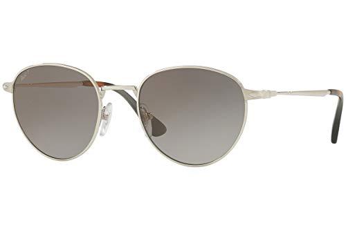 (Persol PO2445S Sunglasses Silver w/Polarized Dark Grey Gradient Lens 52mm 518M3 PO 2445-S PO2445-S PO 2445S)