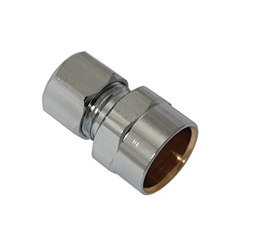 Price comparison product image Plumb Pak PP79PCLF Straight Connector, 1/2-Inch Sweat by 3/8-Inch Od, Lead Free,