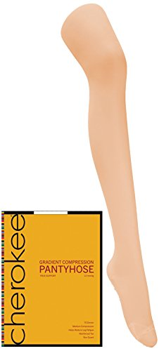 Footwear By Cherokee Women's 12 Mmhg Compression True Support Pantyhose X-Large (True Support Pantyhose)