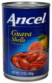 Ancel Guava Shells In Syrup / Cascos De Guayaba En Almibar 17 oz, 1 can