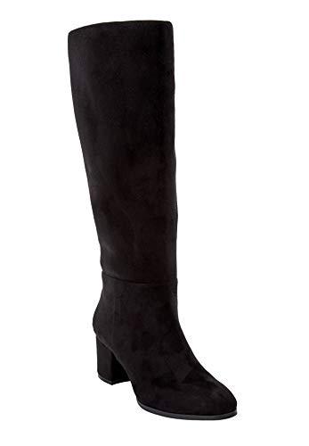 Comfortview Women's Plus Size The Daniela Wide Calf Boot - Black, 9 WW