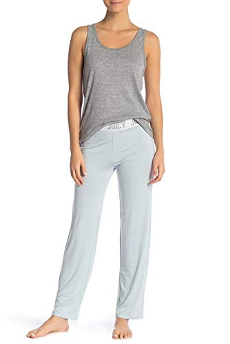 - Juicy Couture Women's Logo Elastic Banded Pajama Sleep Pants (Dream Baby Blue, L)