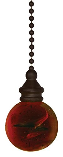 Westinghouse 7712500 12 Amber & Bronze Ball Pull Chain