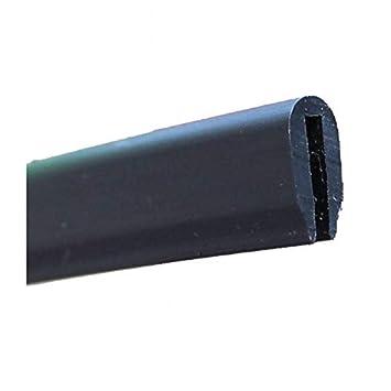 color negro PVC blando, 1500 x 10 x 7 mm Perfil protector de bordes GAH-Alberts 426859