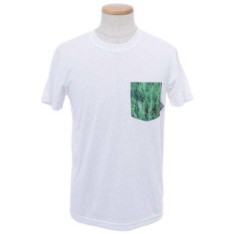 訪問所有者驚ホールアース(ホールアース) メンズ Pocket View 半袖Tシャツ WES17M02-5708 WHT