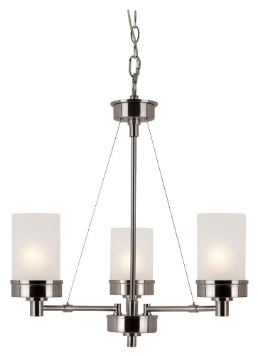 Trans Globe Lighting Trans Globe Lighting 70337 BN 3-Light Chandelier, Brushed Nickel