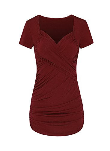 ASHMITA Womens Cross front Pleated Ruched
