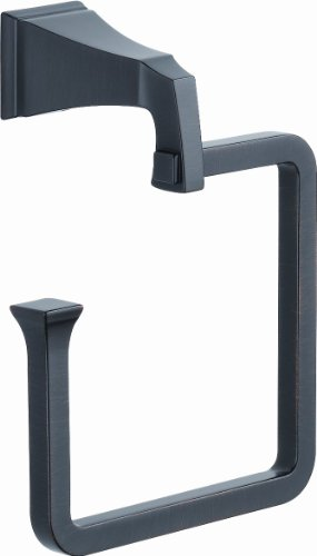 Delta Faucet 128896 Dryden Towel Ring, Spot Shield Venetian Bronze