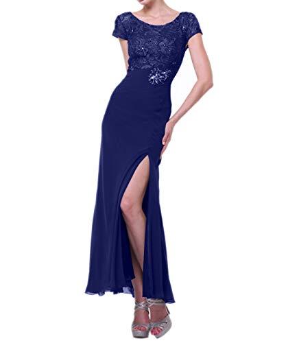 Braut Abendkleider mit Blau Brautmutterkleider Schlitze Chiffon La Spitze Royal Etuikleider Beige Dunkel Ballkleider Festlich Figurbetont mia 5ZavwqY