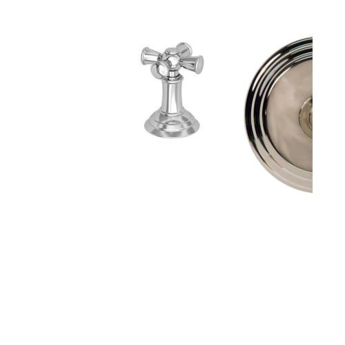 Newport Brass 3-374 Single Metal Cross Handle with Escutcheon for the Aylesbury, Polished Nickel ()