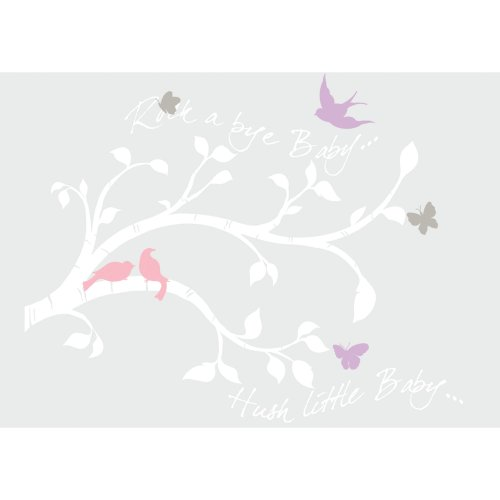 (RoomMates Rock-A-Bye Bird Branch Peel and Stick Giant Wall Decals)