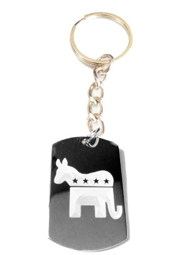Republican Democrat Democratic Party Donkey Elephant Party Political Vote Election 2012 Logo Symbols - Metal Ring Key Chain - Sushi Logo