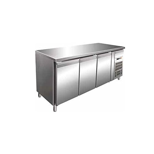 Mesa Congelador Gastronomia GN1/1 Ventilado 3 puertas de acero ...