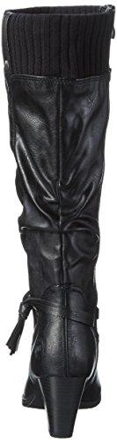 Femme Noir Black Haute Marco Bottes 096 Tozzi comb 25511 Ant IqnHwOS
