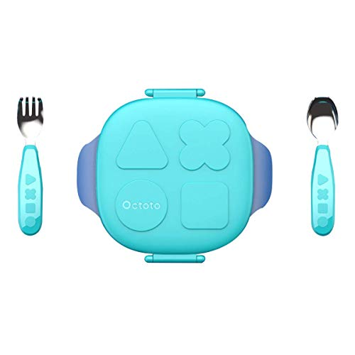 Kids, Eating Training Set for Baby and Toddlers, BPA-Free Insulated Leak-proof, On-the-go Meal and Snack Containers, Suitable for 6 months to 4 years old ()