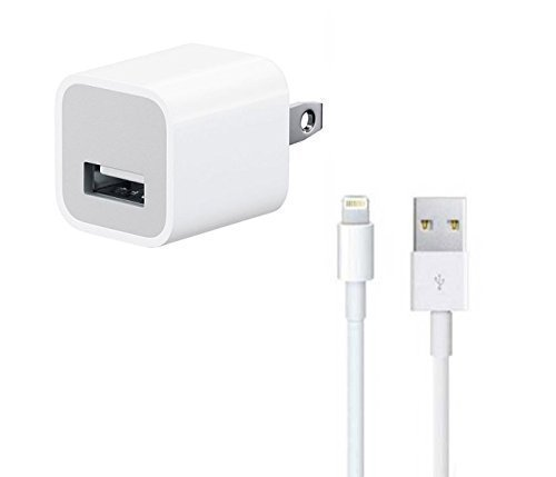 Apple 5W Charger with Lightning Cable for iPhone 5/5c/6/6+/iPad Air - 4