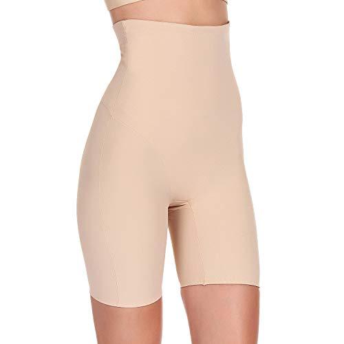 Fianmy Women's Shapewear High Waist Seamless Body Shaper Butt Lifter Panty Tummy Control Thigh Slimmer (X-Large, Beige)