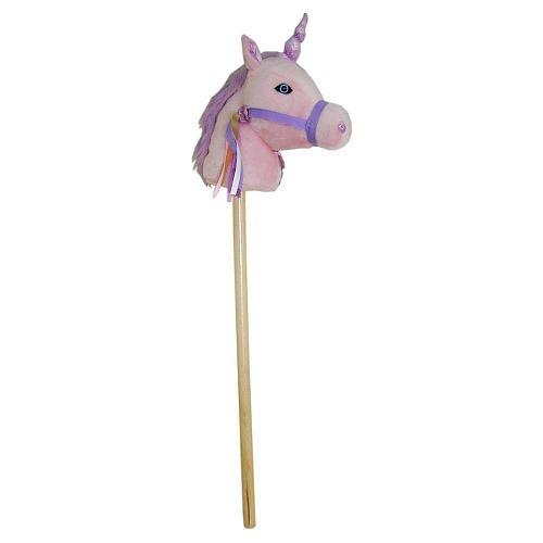 Toys R Us Plush 34 Inch Stick Horse With Sound - Pink, Di...