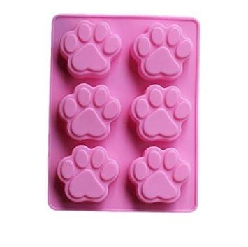 Molde de silicona para Chocolate, de huellas de perro y cachorro de bandeja de hielo - personalizados alfombrillas de silicona y moldes de bakell: ...