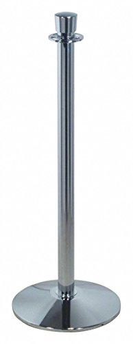 Urn Top Rope Post, Polished Chrome, Polished Chrome Post Finish, 37