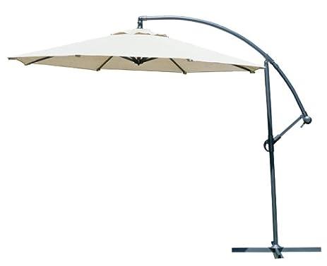 Great Coolaroo 10 Foot Round Cantilever Freestanding Patio Umbrella, Smoke