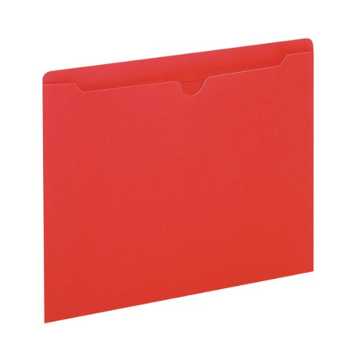 Globe-Weis/Pendaflex Colored File Jackets, Reinforced Tab, Flat, Letter Size, Red, 100 Jackets Per Box (B3010DTRED)