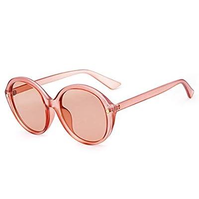NEW Rivet Round Sunglasses Women Retro Crystal Circle Clear Lens Transparent Sun Glasses Shades OM536
