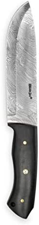 Perkin – Custom Handmade Damascus Hunting Knife with Sheath – Survival Knife