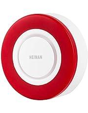 Heiman Zigbee alarmsirene 95 db, Zigbee, compatibel met Home Assistant, Dirigz en Conbee Zigbee Sirene