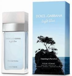 LIGHT BLUE DREAMING IN PORTOFINO BY DOLCE & GABBANA 3.4 FL.OZ. EDT SPRAY FOR WOMEN. DESIGNER:DOLCE & GABBANA