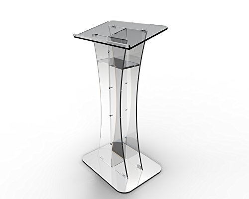 FixtureDisplays Plexiglass Acrylic Podium Clear Lectern Church Pulpit 1803-311-NEW by FixtureDisplays