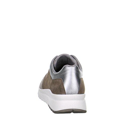 Legero 00896-06 Damen Sportiver Schnürschuh Aus Veloursleder Lederfutter Weite G taupe/metallic