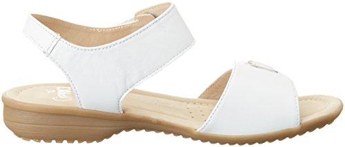 Caprice 28705, Sandalias con Cuña para Mujer Blanco (White Nappa)