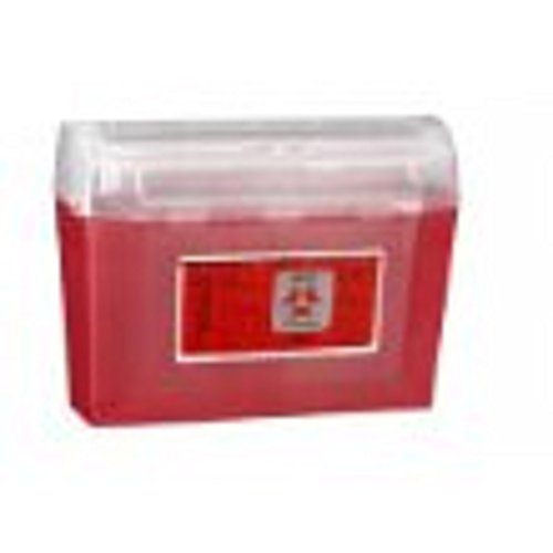 SharpSafety Large Volume Sharps Container, Hing Sharps Cntnr 8 Gal Red, (1 CASE, 10 EACH) by COVIDIEN (Image #1)
