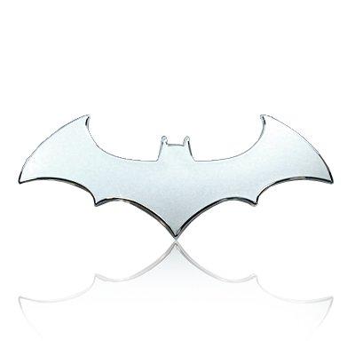 Batman (3D Bat) Chrome Auto Emblem (Accessories Auto Batman)