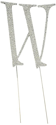 - Unik Occasions Collection Crystal Rhinestone Wedding Cake Topper, Large, Letter W, Silver