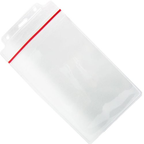Water Resistant 4x6 Oversized Badge Holder with Resealable Zip Lock Top by Specialist ID, Sold Individually