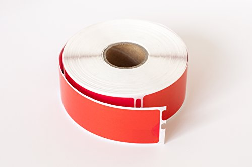 "2 Roll; 350 Labels per Roll of DYMO-Compatible 30252 RED Address Labels (1-1/8"" x 3-1/2"") -- BPA Free!"