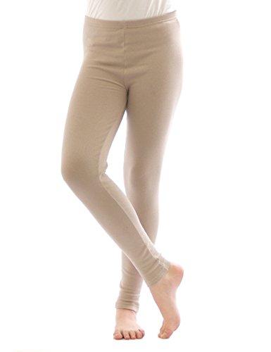 Legging Thermique Leggings Pantalon long en coton Polaire chaud épais doux - Beige, 38