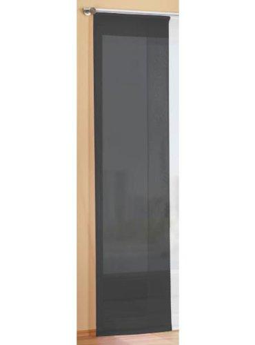 Preisgünstiger Flächenvorhang Schiebegardine, transparent, unifarben, mit Zubehör, 245x60, Schwarz, 85589