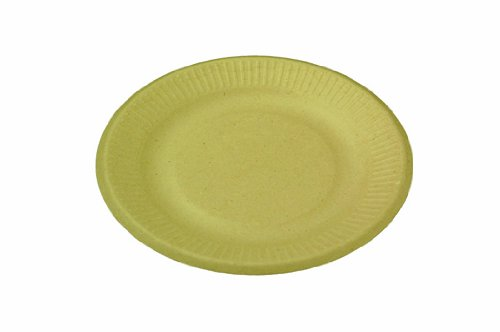 World Centric Wheat Straw/Bagasse Compostable Fiber Ripple Edge Plate, 1000 ct by World Centric
