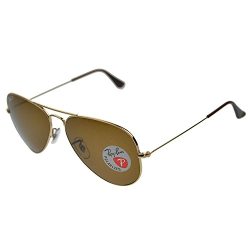 Ray-Ban Aviator Large Metal Sunglasses Rb3025 001/57 Gold Crystal Green Polarized - Usa Aviator Ban Ray