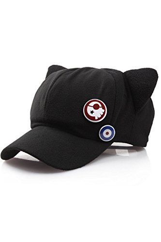 Cosplay EVA Neon Genesis Evangelion Soryu Asuka Langley Cat Ear Hat Black