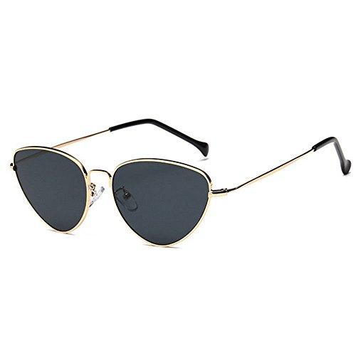 Protección de Gafas Casuales Gris Mujer Solar Sol Viento a dorado de wlgreatsp de Prueba Gafas X1FzBB