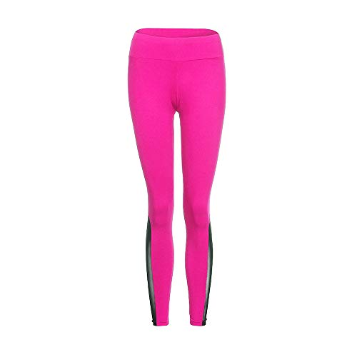 POQOQ Pants Women's Fashion Leggings Fitness Sports Gym Running Yoga Athletic XXS Hot Pink