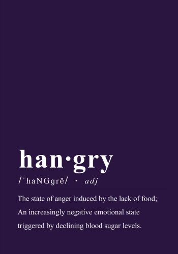 The Hangry Dictionary Definition Create Your Own Cookbook: A Blank Recipe Journal