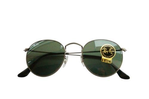 a178f98a3a2 ... denmark amazon ray ban rb3447 029 round metal matte gunmetal frame  crystal green lenses 50mm non