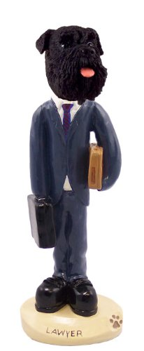 - Schnauzer Black w/Uncropped Ears Lawyer Doogie Collectable Figurine